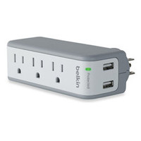 Belkin 3-Outlet Mini Surge Protector with 2.1-Ampere USB Ports - Bed Bath & Beyond