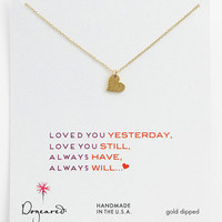 Women's Dogeared 'Sparkle Heart' Boxed Pendant Necklace
