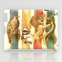 Harry Potter House Brawl iPad Case by Alice X. Zhang