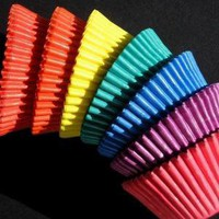 Assorted Solid Color Cupcake Liners Baking by thebakersconfections