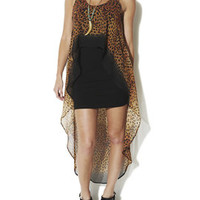 Leopard High-Low Dress | Shop Dresses at Arden B