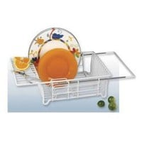 "Adjustable Over Sink Dish Drainer (White) (5""H x 12""W x 17.5""D)"