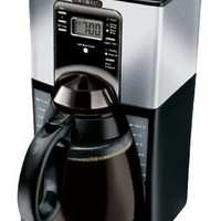 Mr. Coffee FTX45-1 12-Cup Programmable Coffeemaker, Black/Stainless