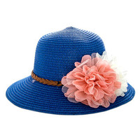 Fair Flowers Straw Hat: Blue [HA32473] - $14.99 : Spotted Moth, Chic and sweet clothing and accessories for women