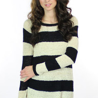 Townsen L/S Sweater in Black Stripe - On Sale | Townsen Sweaters