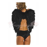 Adult Cosplay Angel Wings Halloween Angel Costumes Black [TQL120324002] - $18.38 : Zentai, Sexy Lingerie, Zentai Suit, Chemise