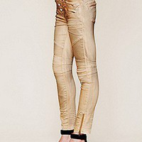 Free People Womens Seamed Moto Skinny