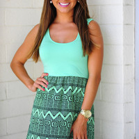 Gettin Ziggy With It Dress: Mint | Hope's