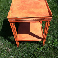 Vintage revived early midcentury side table
