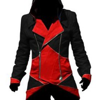Ericasummit Assassin's Creed III Connor Kenway Coat Jacket Hoodie Cosplay Costume