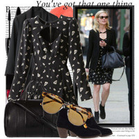 Alexa Chung and Kirsten Dunst Wearing Rebecca Taylor - Polyvore