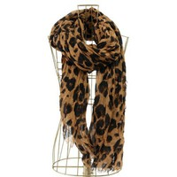 Leopard Scarf - BROWN