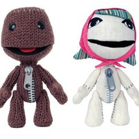 "LittleBigPlanet Sackgirl/Sackboy 6"" Plush - 2 Pack Bundle"