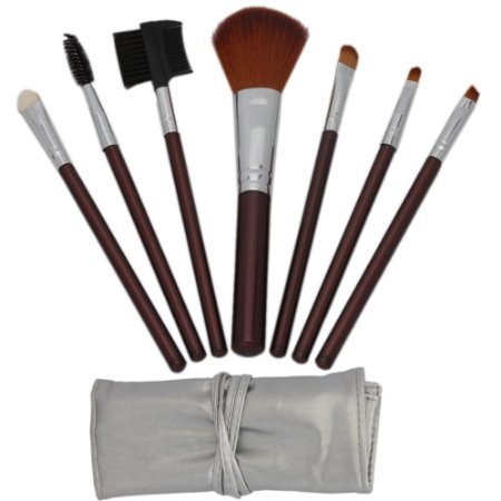 Makeup Brush Case on Cosmetic Makeup Make Up Brush Brushes Set Kit With Silver Bag Case On