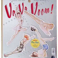 Retro Va-Va Voom Pin-Up Girl Magnet Set