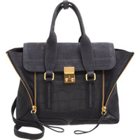 3.1 Phillip Lim Nubuck Medium Pashli Satchel with Strap at Barneys.com
