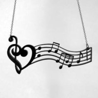 Music is the Medicine of the Breaking Heart Necklace  by CABfayre