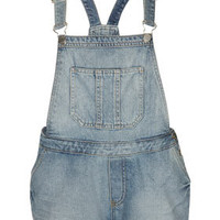 MOTO Bleach Denim Dungarees