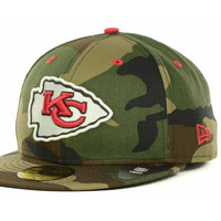 Kansas City Chiefs NFL Camo Pop 59FIFTY Cap