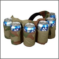 6 Pack redneck beer holder belt camo
