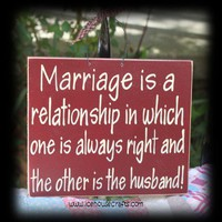 Marriage is a relationship sign | icehousecrafts - Folk Art & Primitives on ArtFire