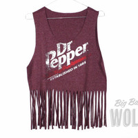Burgundy Marl DR PEPPER Soft Drink shirt by shopbigbadwolf on Etsy