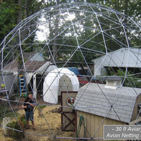 30 ft Geodesic Dome Outdoor Aviary, Flight Cage, Animal Pen