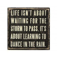Dance in the Rain Plaque