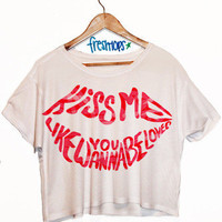 Kiss Me Crop Top | fresh-tops.com