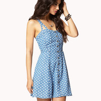 Polka Dot Chambray Dress | FOREVER 21 - 2036510256