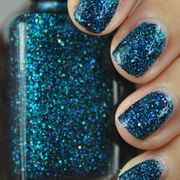 Sea Creature Blue and Green Glitter Nail Polish 15ml (.5oz)