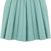 Oasis Sweet Dreams | Pale Green Pleated Leather Mini Skirt | Womens Fashion Clothing | Oasis Stores UK