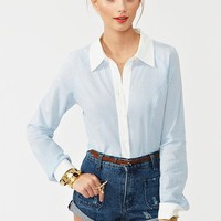Hold Me Shirt - Chambray in  Clothes at Nasty Gal