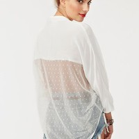 Mesh Around Blouse - Ivory in  Clothes at Nasty Gal