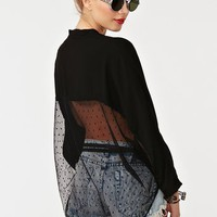 Mesh Around Blouse - Black in  Clothes at Nasty Gal