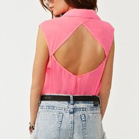 Neon Pocket Blouse  in  Clothes at Nasty Gal