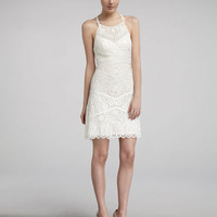 Sue Wong Embroidered High-Neck Dress - Neiman Marcus