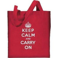 Keep Calm and Carry On Reuseable Cotton by byorderofthecrown