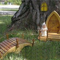 Complete garden gnome door set will Turn Your yard or garden into the | OzarkKountryCrafts - Woodworking on ArtFire