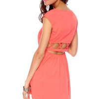 Nexxt Summer Dress in Deep Coral :: tobi