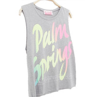 Luminescent Letters Sleeveless T-shirt