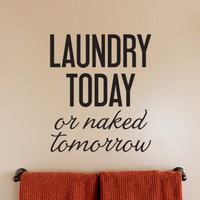 Wall Decal - Laundry