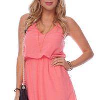 Square One Tank Dress in Coral :: tobi