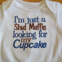 Stud Muffin Boys Onesuit I&#x27;m Just A Stud Muffin Baby by babytweets