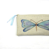 spring butterfly pouch whimsical essentials by mamableudesigns