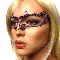 Womens masquerade mask in purple,costume, accessories,  handmade, ooak