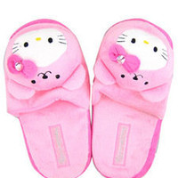 Hello Kitty w/ Cute Bear Hat & Bow Bedroom Slippers