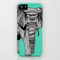 Tribal Elephant Black and White Version iPhone & iPod Case | Print Shop