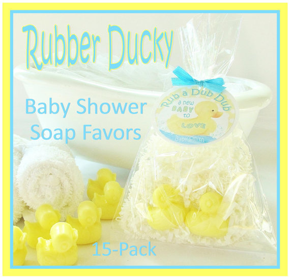 15 rubber ducky baby shower soap favor from crimson hill