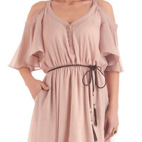Glimmer of Taupe Dress | Mod Retro Vintage Dresses | ModCloth.com